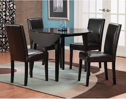 dakota 5 piece round table dining package with brown chairs the