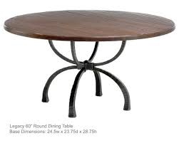 Wrought Iron Dining Tables - 60 inch round wrought iron outdoor dining tables