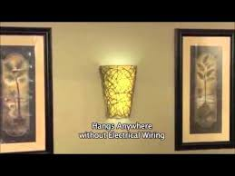 Wireless Sconces Battery Operated Wall Sconce Wicker Style With Remote Youtube