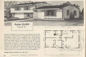 House Plans Rambler 1950s House Plans Luxihome