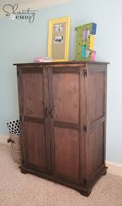 armoire for kids pottery barn inspired armoire free plans shanty 2 chic