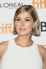short haircuts behind the ears 21 times rosamund pike proved that short hair is a work of art