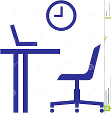 Office Chair Clipart Office Furniture U2013 Table Chair Laptop Royalty Free Stock Images
