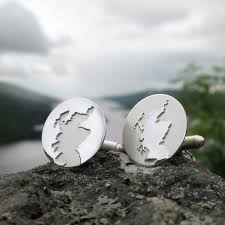 contemporary scottish jewellery designers scotland coastline cufflinks contemporary cufflinks by