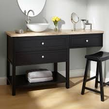 bathroom makeup vanity and chair sink vanities 60 taren black vanity for vessel sink with makeup area bathroom vanities bathroom