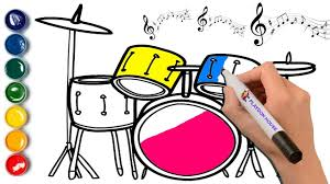 drums u0026 percussion coloring page musical instruments coloring