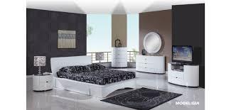 gia platform storage bed modern white bedroom set