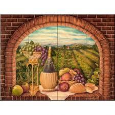 uncategorized italian tile murals tuscany backsplash tiles tile