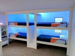 Three Person Bunk Bed Three Person Bunk Bed 3 Person Bunk Beds Kid Spaces Three Person