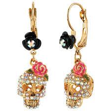 betsey johnson basics skull drop earrings earrings best buy canada