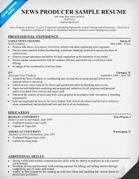 Production Resume Examples by News Producer Resume Resumecompanion Com Resume Samples