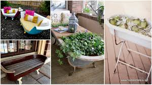 repurposing furniture 13 unconventional ideas diy repurposed bathtubs projects