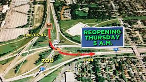 major system ramps at zoo interchange set to reopen this week