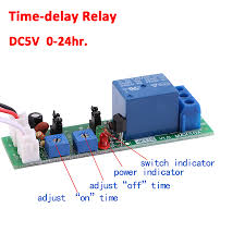 On Off Timer Circuit Diagram Dc 5 12 24v Adjustable Cycle Trigger Delay Timing Timer Relay On