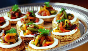 goats cheese canape recipes roasted pepper and goat cheese canapes