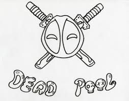 this is my sketch for my deadpool t shirt logo that im making by