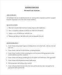 Home Health Aide Job Description Resume by Job Description Sample National Job Descriptions Laws