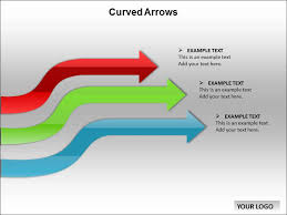 curved arrows chart templates for powerpoint curved arrows chart