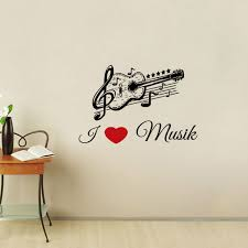 Music Note Home Decor Ehome I Love Music Wall Stickers Guitar Musical Note Stickers Home