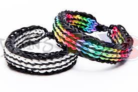 bracelet looms double images Twin stripe bracelet on the rainbow loom jpg