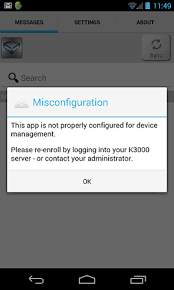 android popup article the popup message misconfiguration is thrown launching
