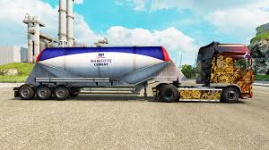 semi trailer truck dangote cement cement semi trailer for euro truck simulator 2