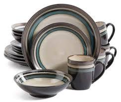 gibson elite lewisville teal 16 dinnerware set plum