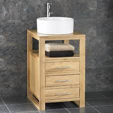 Solid Oak Bathroom Vanity Unit Bathroom Basin And Cabinet Interiors Design