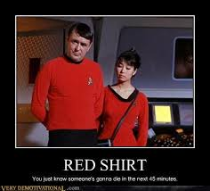 Red Shirt Star Trek Meme - that s scottie she s doomed very demotivational demotivational