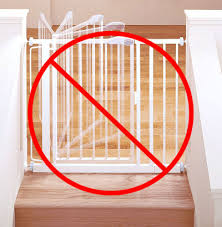 Gate For Top Of Stairs With Banister Top Of The Stairs Gate Smart Baby Gates For Stairs The Baby Gates