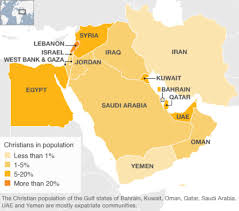 Map Of North Africa And The Middle East by Guide Christians In The Middle East Bbc News