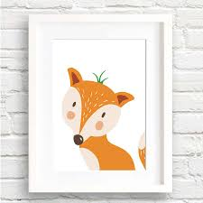fox home decor aliexpress com buy cartoon cute fox animals art print poster