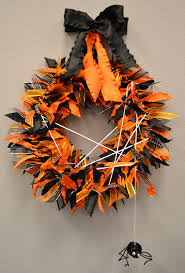 Halloween Spider Wreath by The Ribbon Curl Bitsy The Spider Halloween Ribbon Wreath