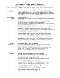 Military Resume Writing Freelance Photographer Resume Resume For Your Job Application