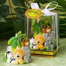 jungle critters collection candle favors safari baby shower