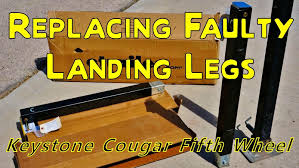 repair and install of my fifth wheel landing legs youtube
