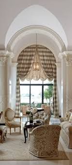 Balloon Curtains For Living Room Lovely Living Room Arched Panels With A Balloon Shade Regarding