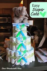 polka dot baby shower diaper cake mostly homemade mom