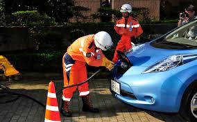 nissan leaf jump start world u0027s largest jump start kit nissan tests mobile electric car