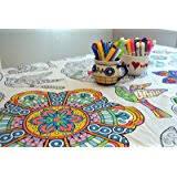 amazon coloring table food fun tablecloth u0026 kitchen