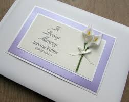 funeral guest books funeral guest book etsy