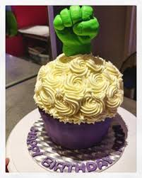 hulk hand giant cupcake such a cool birthday cake surprise for