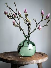 how to decorate vases spring floral arrangement inspiration magnolia fresh flowers