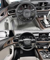 audi s6 vs 2015 audi a6 facelift vs model interior indian autos