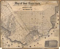 Map Of Union Square San Francisco by Map Of San Francisco From Latest Surveys 1852