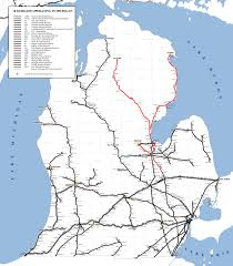 Amtrak System Map by Lake State Railway System Map
