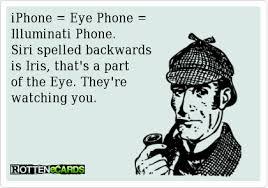 iris illuminati iphone eye phone illuminati phone siri spelled backwards is
