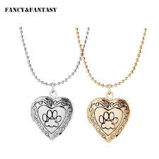 heart dog necklace images Lovers 39 romantic necklace pet dog paw charm pendant box photo jpg