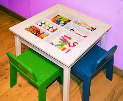 Kids Activity Table With Storage Ana White Arts And Crafts Play Table Diy Projects