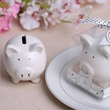 wedding favors for kids 50pcs lovely small ceramics pig piggy bank with gift box baby